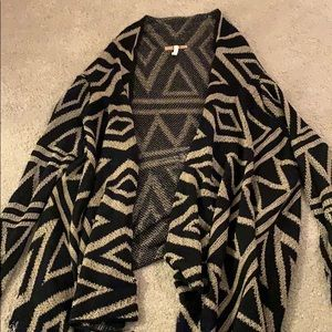 🌸Black and Gold Long Sleeve Cardigan